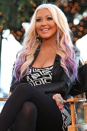 christina aguilera purple