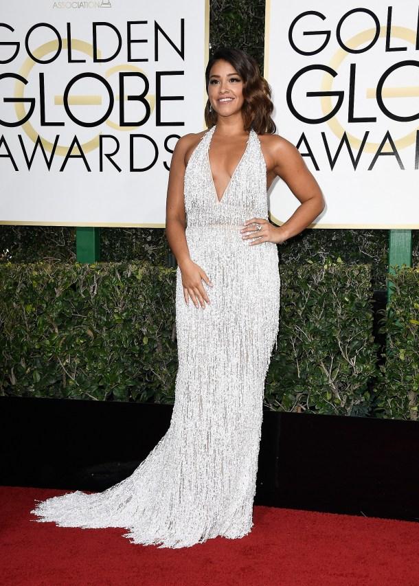 Resultado de imagem para Gina Rodriguez no golden globe 2017