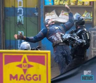 Crossbones taking a shot at Captain America