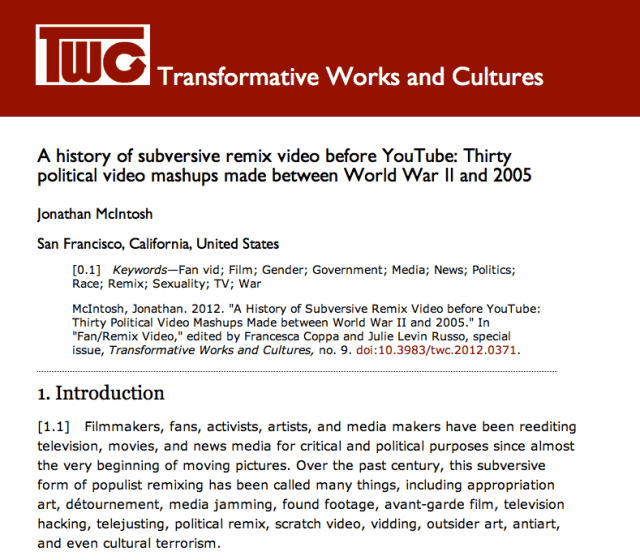A Brief History of Subversive Remix Video Before YouTube
