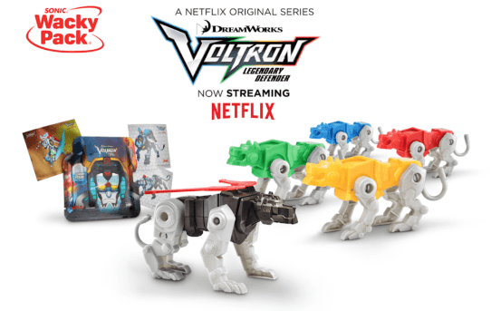 Voltron from Sonic Kid's Meal Review