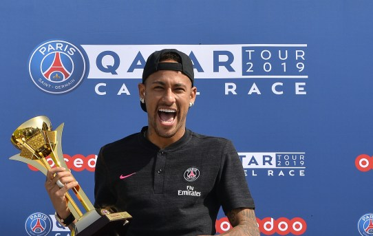 Neymar and Tuchel Win First Paris Saint-Germain Camel Race