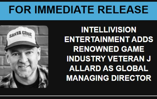 Industry Veteran J Allard Joins Intellivision