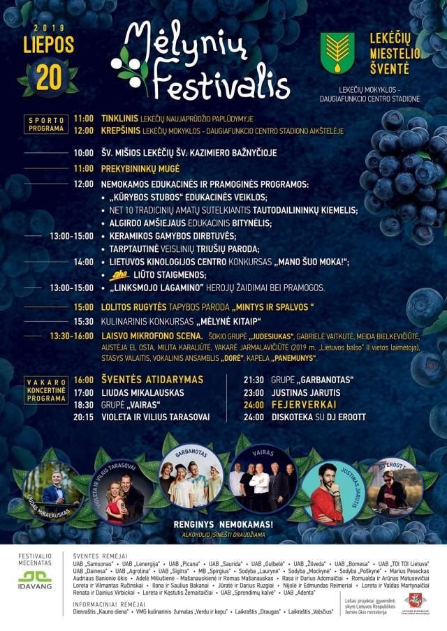 melyniu festivalis 2019 programa