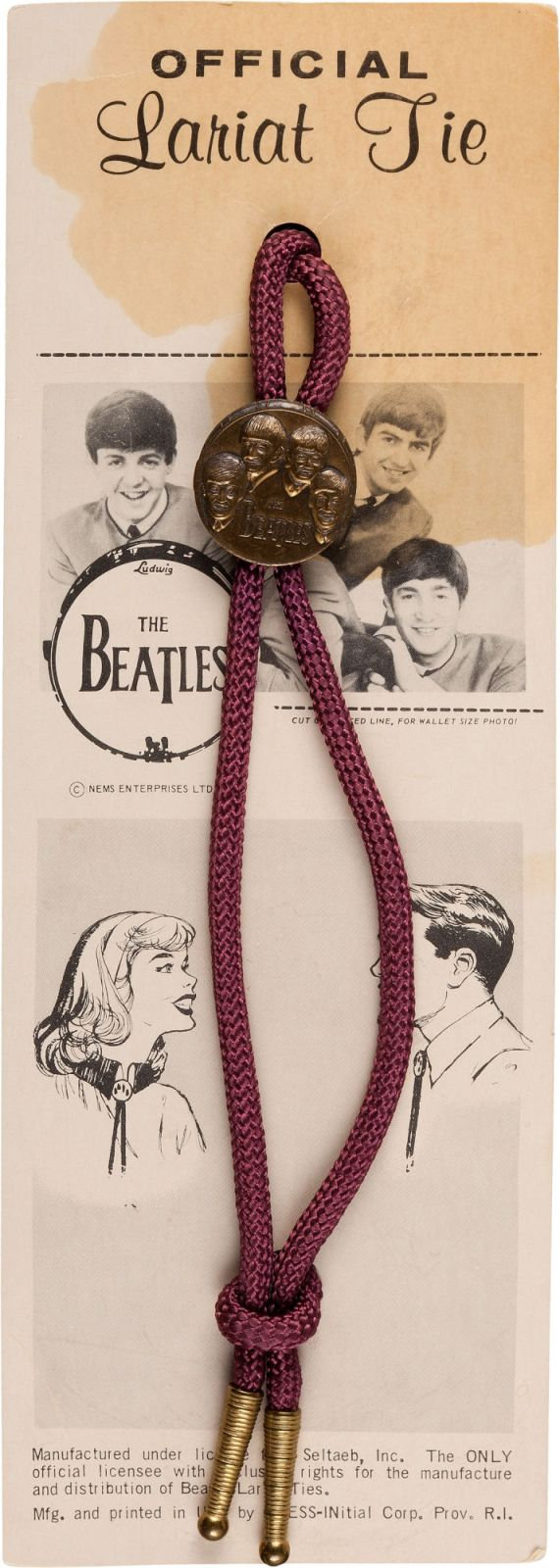 Beatles Official Lariat Tie (Seltaeb, 1964)