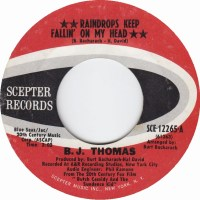 "B.J. Thomas, ""Raindrops Keep Fallin' on My Head"""
