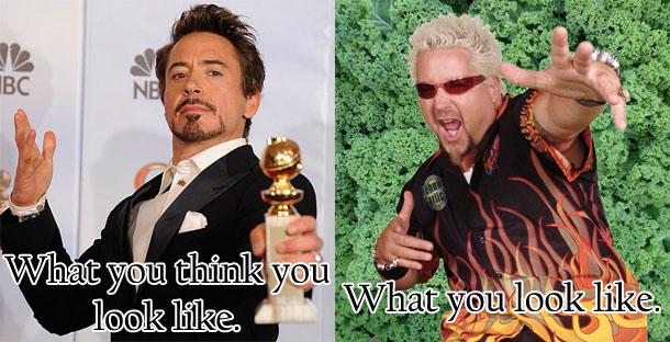 The goatee: Robert Downey, Jr. vs. Guy Fieri