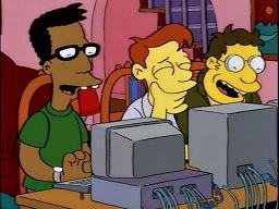 simpsons nerds computers