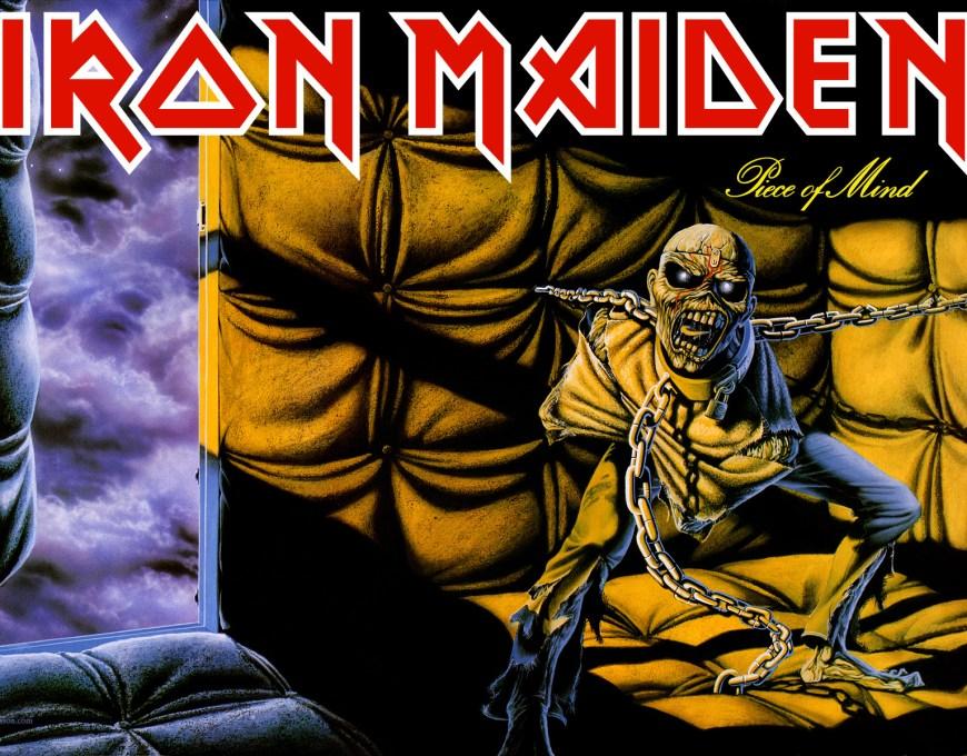 Iron Maiden, 'Piece of Mind' album cover gatefold