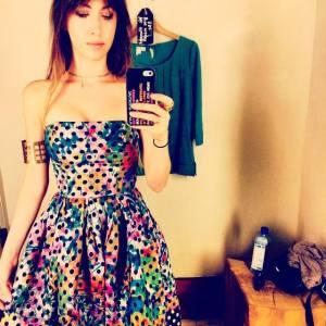 Kate Voegele Dot Dress