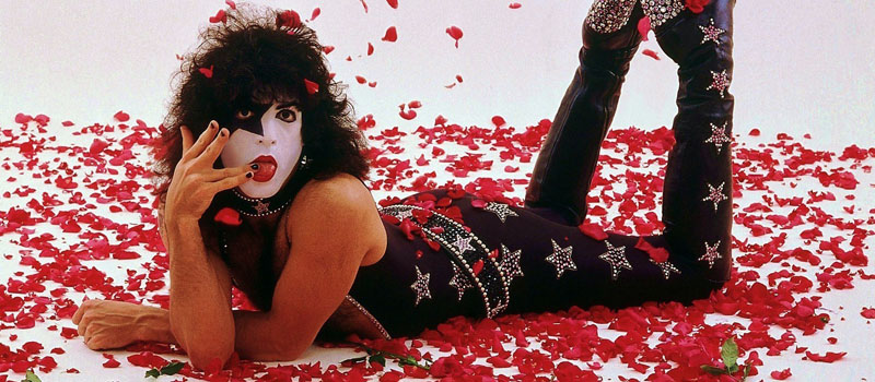 Paul Stanley and Roses