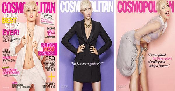 Miley Cyrus, March 2013 Cosmopolitan