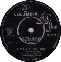 "Peter & Gordon, ""World Without Love"""