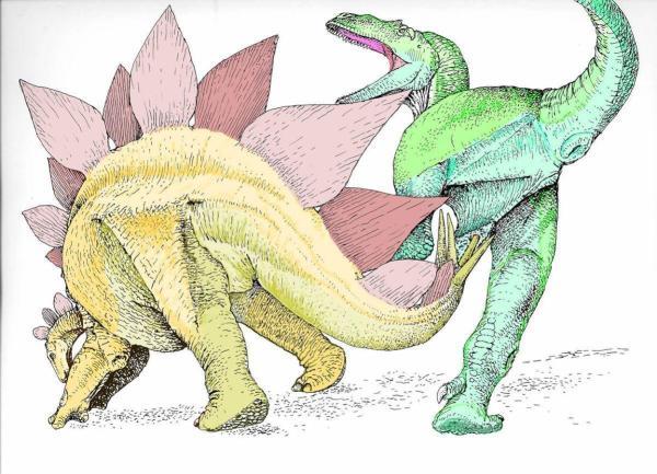 Stegpsaur Kills Allosaur