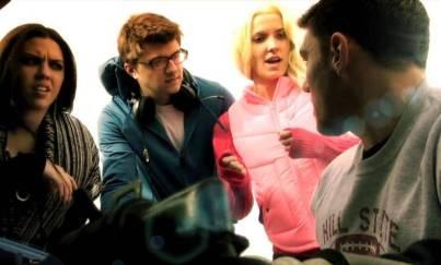 Nicole Goeke as Roxanne; Ben Johnson as Gunnar; Adam Singer as Cam; Mia Klosterman as Sadie - The Jurassic Dead