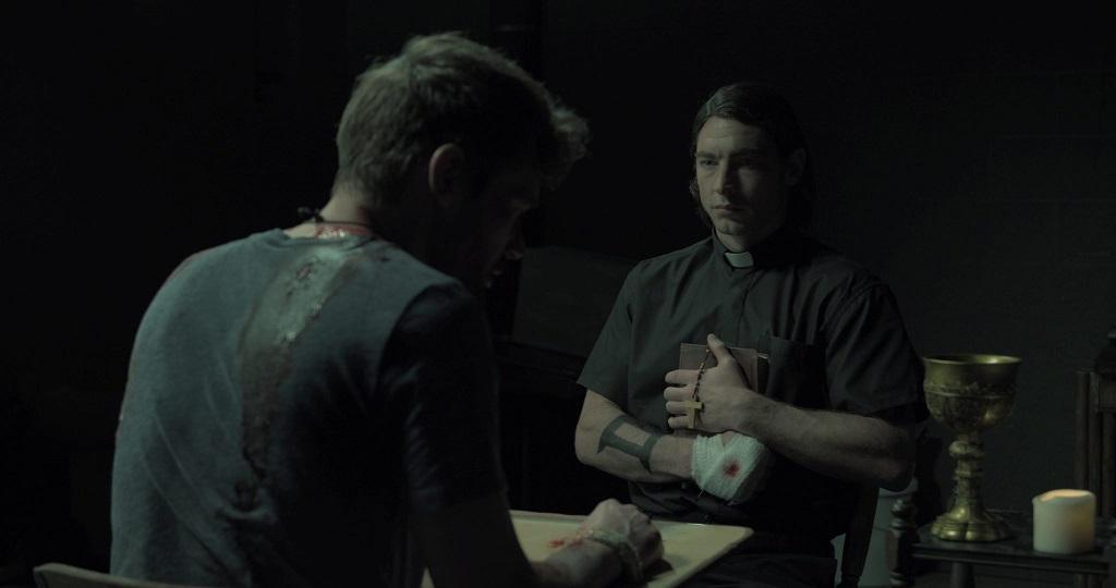 Davis takes on the mannerisms and attitude of each of Bill's persona - The Basement Movie Review