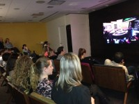 Attendees watching the 'Big Brother Canada' premiere with Dan Gheesling
