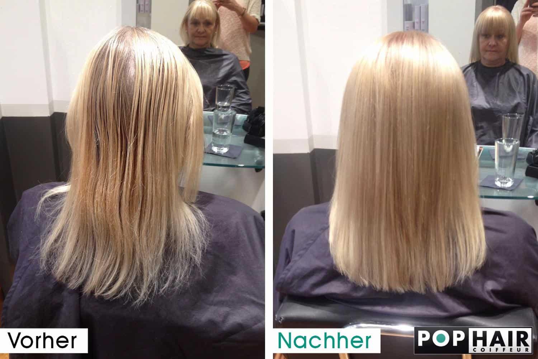 Haarverdichtung mit blonden Strhnen  POPHAIR