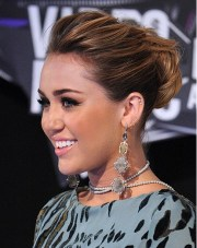 miley cyrus easy updo hairstyles
