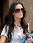 Demi Moore Layered Long Wavy Hairstyles 2013
