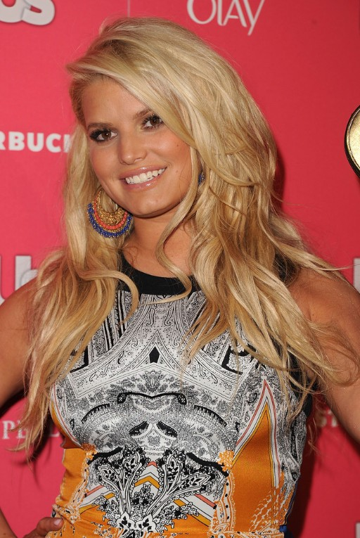 Jessica Simpson Blonde Long Layered Hairstyle PoPular Haircuts