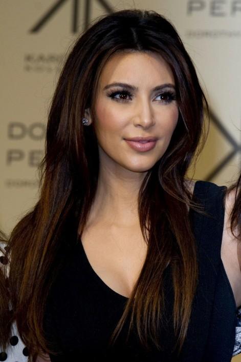 Kim Kardashian Sleek Long Hairstyle For Straight Hair PoPular
