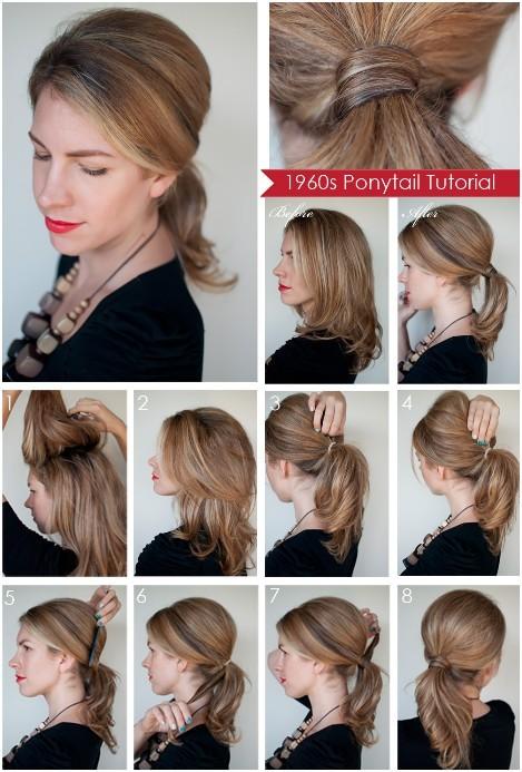 Diy Ponytail Hairstyles For Medium Long Hair PoPular Haircuts