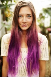 ombre long straight hair girls