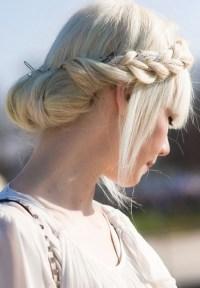 Milkmaid Braid for Long Hair: Prom Bun Hairstyles ...