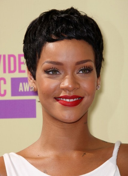 Rihanna Black Pixie Haircuts For Short Hair PoPular Haircuts