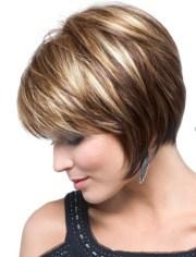 chin-length texture bob haircut