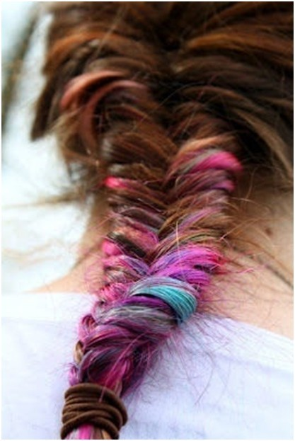 Cute Rainbow Fishtail Braid Long Braided Hairstyles