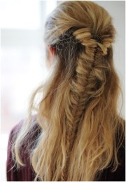 easy fishtail braid braided