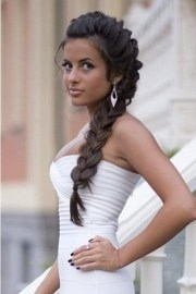 side braided hairstyles wedding
