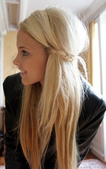 Cute Girls Hairstyles Bride With Straight Long Hair PoPular