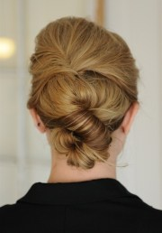 simple knot updo hairstyle - popular