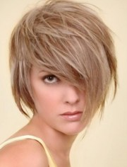 medium short hairstyles tousled