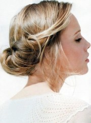 simple updo hairstyle prom