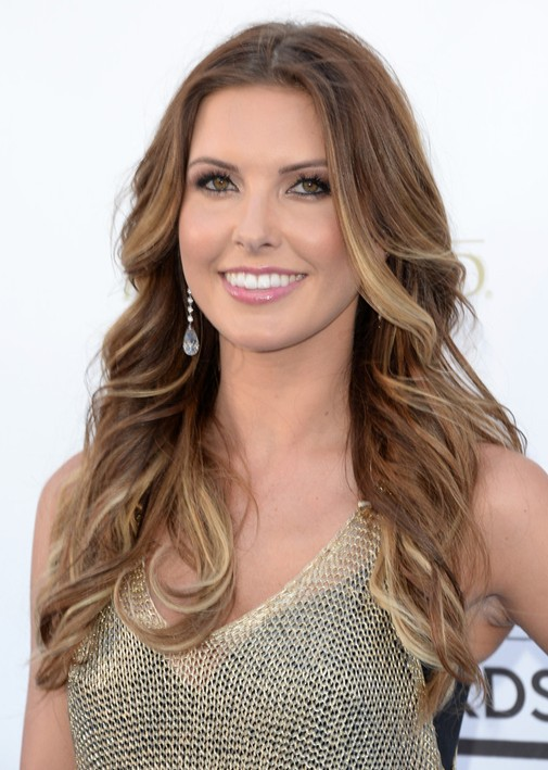 Audrina Patridge' Hairstyles Brown With Blonde Highlights