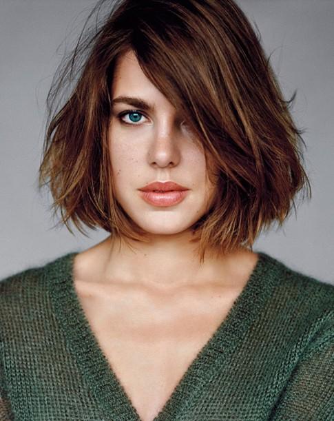 Charlotte Casiraghi Haircut Messy Straight Bob PoPular Haircuts
