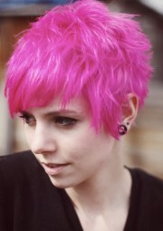 stylish short emo hairstyles