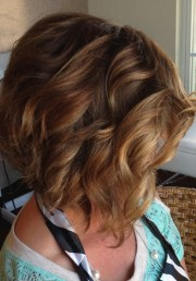 stacked curly bob haircut - popular