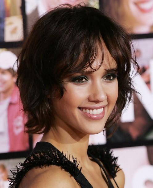Jessica Alba Hairstyles Messy Short Haircut PoPular