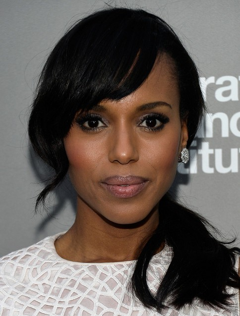Kerry Washington Hairstyles Side Ponytail Hairstyle For African