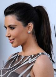 kim kardashian hairstyles - ponytail