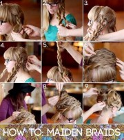 braids updo hairstyle tutorial