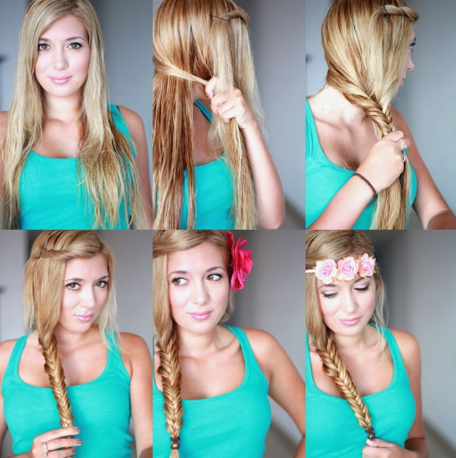 cute braided hairstyle tutorial for girls: how to fishtail