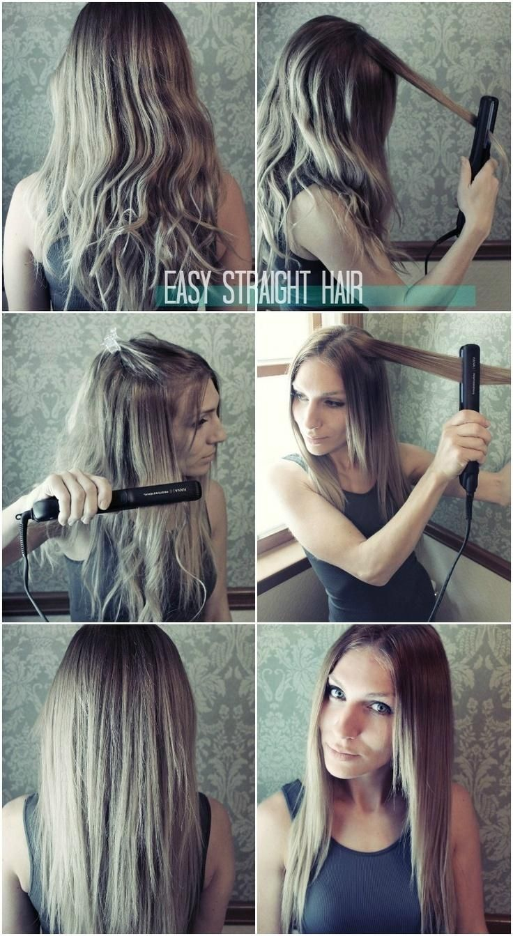 Easy Straight Hairstyles for Girls How to Straighten Hair  PoPular Haircuts