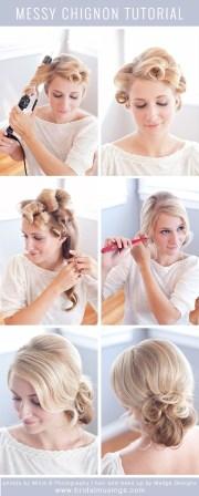 messy bun hairstyle tutorial updos