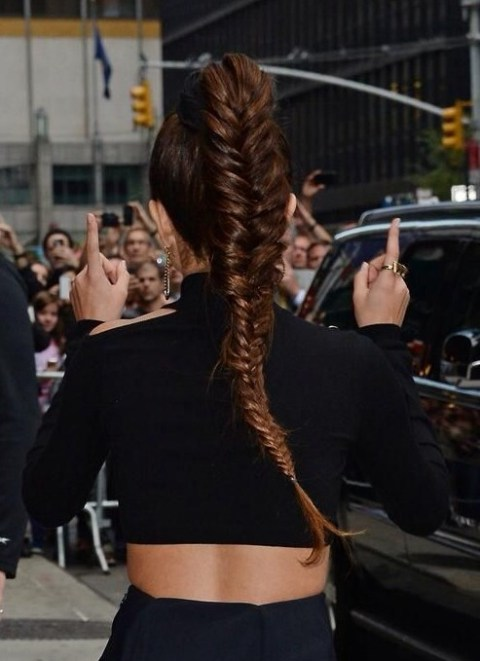 Selena Braided Hairstyles: High Braided Ponytail Hairstyles